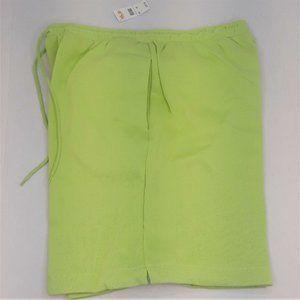 Talbots Lime Green Knit Shorts Women Medium